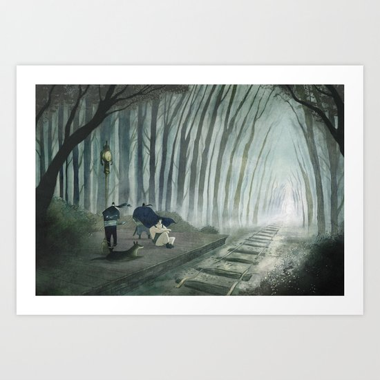 Final Fantasy VI - Phantom Line Art Print