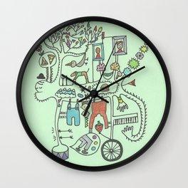 busy beast Wall Clock