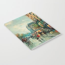 Notre-Dame Cathedral, City Streets of Paris by Antoine Blanchard Notebook