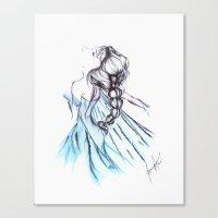 frozen elsa Canvas Prints featuring Frozen Elsa by Jeanette Perlie