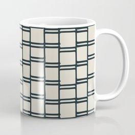 Stacks of Rectangles, Charcoal Gray on Cream Coffee Mug