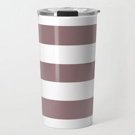 Bazaar - solid color - white stripes pattern Travel Mug
