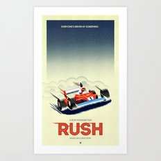 Rush alternative poster red Art Print