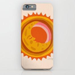 Moon Glow – Retro Ochre iPhone Case