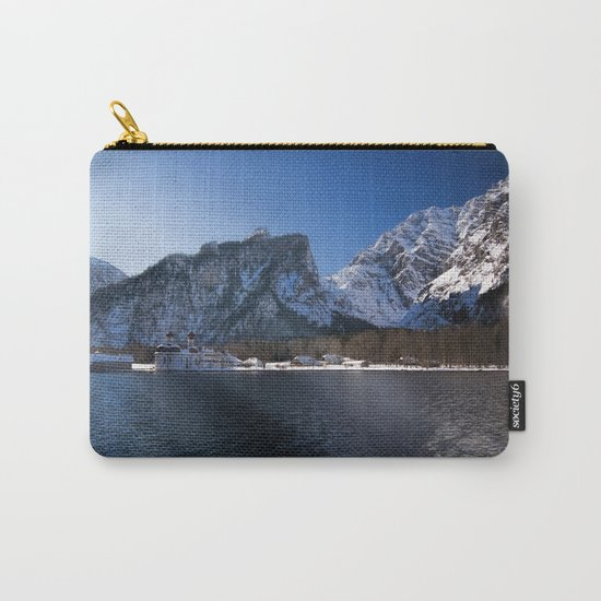 Koenigssee Lake with St. Bartholomew's Church - Mountains and Lake Carry-All Pouch