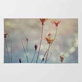 Soft Queen Anne's Lace and Bokeh Rug