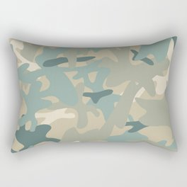 Camouflage military background Rectangular Pillow