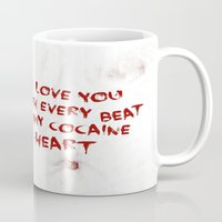 cocaine Mugs featuring COCAINE LOVE by Beauty Killer Art
