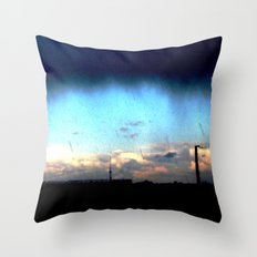 Cave from clouds.  Throw Pillow