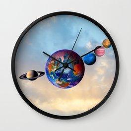 Gaia's friends #society6 Wall Clock