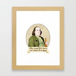 BEN AND BEER Framed Art Print