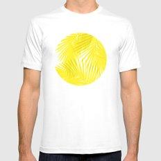 Palms Yellow MEDIUM Mens Fitted Tee White