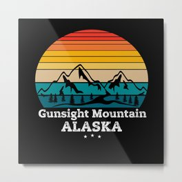 Gunsight Mountain Alaska Metal Print