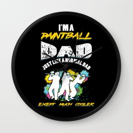 Paintball Dad Father Paintball Player Gift Wall Clock