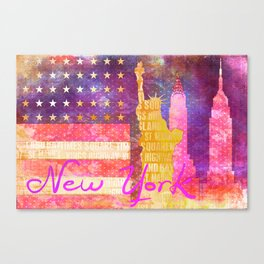 New York USA Statue of Liberty Canvas Print