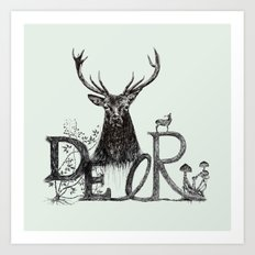 Dark Deer Art Print