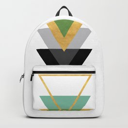 FIVE GEOMETRIC ABSTRACT HOLLOW PYRAMIDS TRIANGLE Backpack
