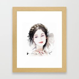 Girls portrait Framed Art Print