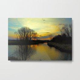 Sunrise River Metal Print