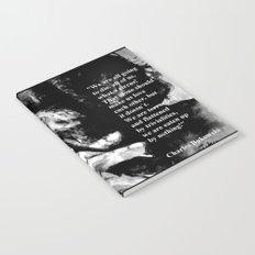 Charles Bukowski - black - quote Notebook