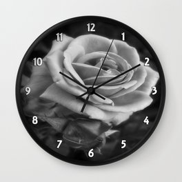 Pink Roses in Anzures 2 B&W Wall Clock