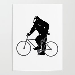 Bigfoot  riding bicycle Poster