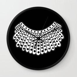 RBG Collar, Ruth Bader Ginsburg Tribute Wall Clock