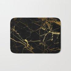 back & gold marble Bath Mat