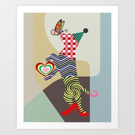 Doggy Dance Art Print