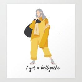 Billie Eilish Bellyache Art Print