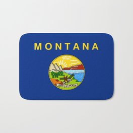 flag of montana,america,usa,big sky,treasure state, montanan,west,Billings,missoula,great falls Bath Mat