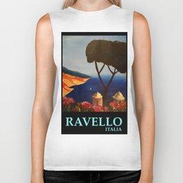 Ravello Salerno Italy View Of Amalfi Coast From Villa Rufolo Biker Tank