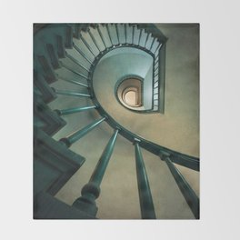 Wooden spiral staircase Throw Blanket