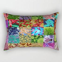 Bacteria Montage Rectangular Pillow