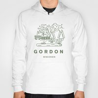 wisconsin Hoodies featuring Gordon Wisconsin  by coltgriffithdesign