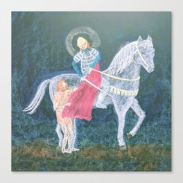 St. Martin and the Beggar Canvas Print