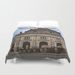 Urban Berlin Landscape with dramatic clouds Duvet Cover