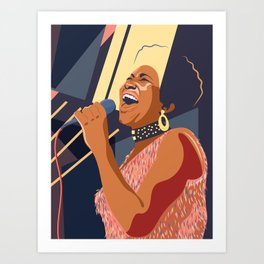 Aretha Franklin Portrait Art Print