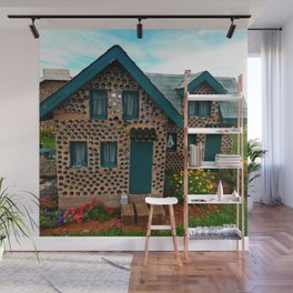 Green Gabled Bottle House Wall Mural