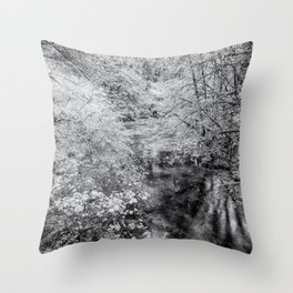 North Fork Silver Creek bw Throw Pillow