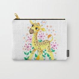 Giraffe Nursery Illustration Carry-All Pouch