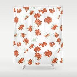 Red Jasmine Flowers Shower Curtain