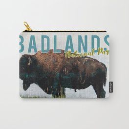 Badlands National Park Vintage Postcard Carry-All Pouch
