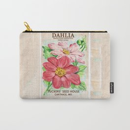 Dahlia Seed Packet Carry-All Pouch