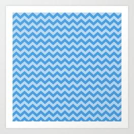 Sky Blue Moroccan Moods Chevrons Art Print