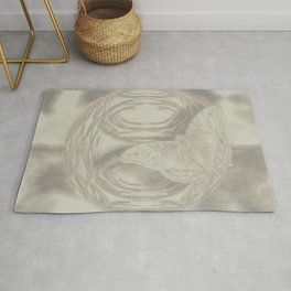 Delicate butterfly wind creation Rug