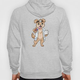 Dog as doctor with pills and notepad Hoody