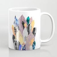 minerals Mugs featuring Crystals by Elisabeth Fredriksson