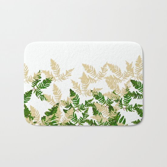 PALM LEAF FERN LEAF TROPICAL Bath Mat