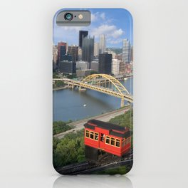 Duquesne Incline Overlooking Pittsburgh, PA iPhone Case
